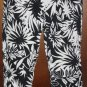 Black/White Tropical Print Pantsuit Crop Pants Medium/Large