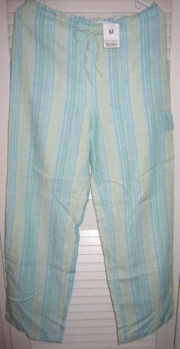 Blue/Green/Yellow Thin Stripe Pants Medium