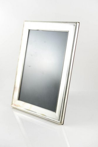 """RC Carrs of Sheffield Sterling Silver & Wood Picture Frame 9"""" x 7"""""""