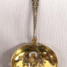 Antique Gorham Sterling Silver Rose Gold Wash Cambridge Pattern 1899 Bon Bon Spoon