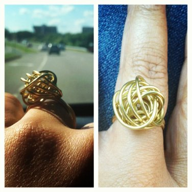 Bird's Nest Ring (Brass)