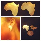 Africa Post Earrings (bronze)