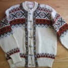 Vintage Unisex Sweater Made in Norway Pewter Clasps Medium
