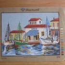 Diamant Needlepoint Canvas of Fishing Village Scene
