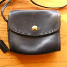Vintage Coach Chrystie Crossbody Shoulder Bag Black Very Small