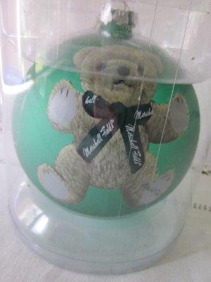 Marshall Field�s Teddy Bear Ball Ornament