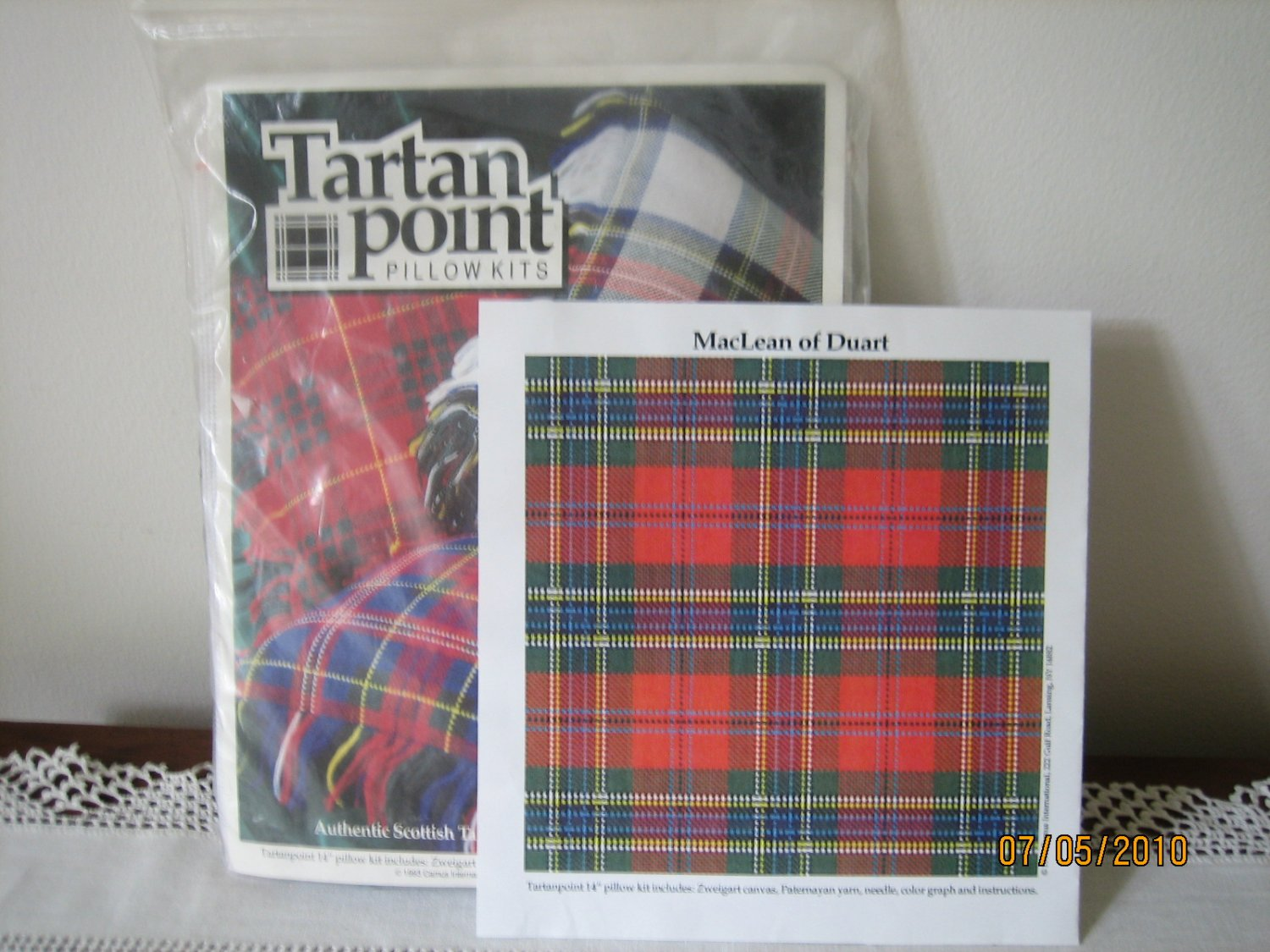 Tartanpoint Pillow Kit Needlepoint for Clan MacLean