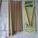 Lot Bamboo Knitting Needles 7 Pairs,2 DP Sets, Circular