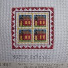 Little Red Schoolhouse Needlepoint Canvas Fibers by Katiedid