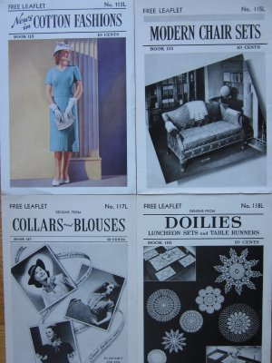 Lot of 4 1938 Booklets, Spool Cotton Co, Crochet Fashions Doilies More