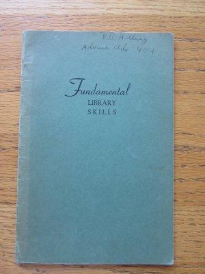 Fundamental Library Skills, New Trier High School, 1950 Booklet