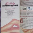 Epilady Trio Vintage Hair Remover Epilator Adapter Case Instr Israel