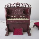 Bespaq Organ and Bench Dollhouse Miniature