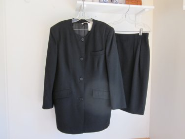 Sonia Rykiel Inscription 1989 Black Skirt Suit