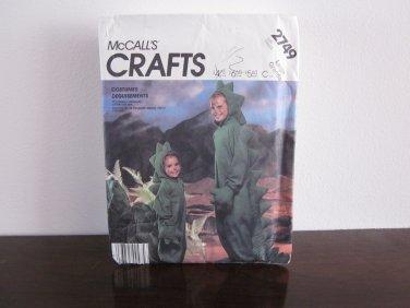 Dinosaur Costume McCalls Pattern 2749 Uncut Kids Large