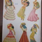 Duplex Nudie Pinup Girlie in Foreign Dress Decals for Glasses 910-B