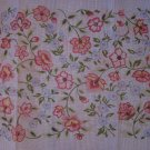 HP Floral Needlepoint Canvas Small Rug or Wall Hanging Free Ship