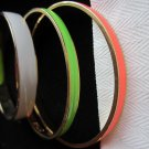 Lot J Crew Thin Enameled Bangles Bracelets, White Green Orange