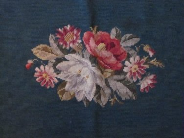 Finished Needlepoint Canvas Roses for Bench or Pillow
