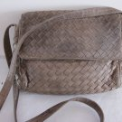 Bottega Veneta Taupe Woven Leather Shoulder Bag
