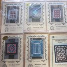 8 Patterns for Miniature Quilts and 5 Stencils Free Ship
