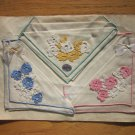 Set 3 Handkerchiefs on Paper Free Shipping