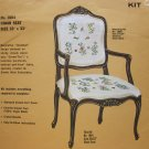 Lot 3 Identical Jacobean Bucilla Chair Seats for Crewel Started Free Shipping