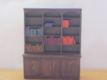 Dollhouse Bookcase with 56 Faux Books Free Shipping