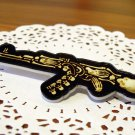 Free Shipping Skeleton on Gun Badge Bag Pin Brooch Clothes