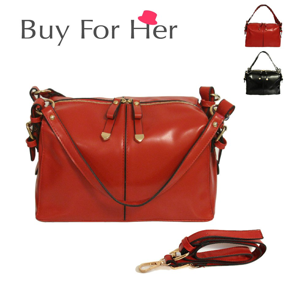 Free Ship 2-Color Women Handbag Satchel Messenger Strap Cross Body Shoulder Bag Tote Shopper Purse