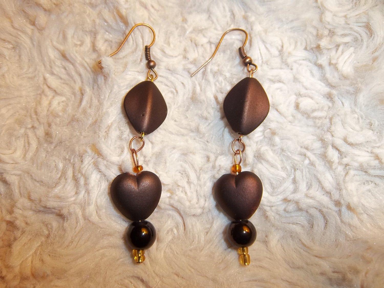 Chocolate Drop Earrings