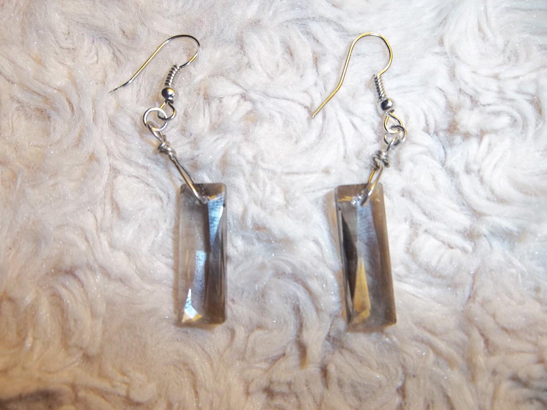 Tinted Crystal Earrings