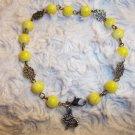 Lemon Snake Charm Bracelet
