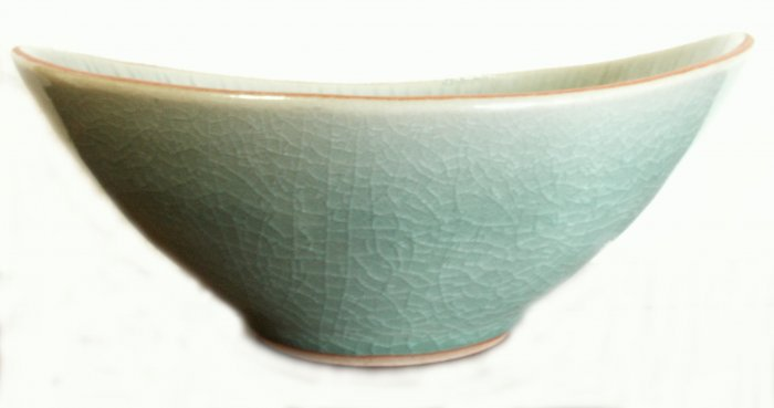 CELADON JADE BOWL (BOAT SHAPED)