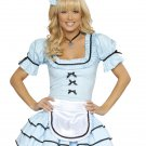 3Pc Looking Glass Alice Adult Woman Halloween Costume