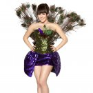 4pc Seductive Peacock Adult Woman Costume