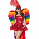 3pc Parrot Playmate Adult Woman Costume