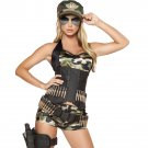 Sexy 5pc Army Babe Adult Woman Costume