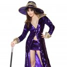 3pc Flashy Pimp Adult Woman Costume
