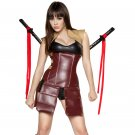 5pc Seductive Samurai  Adult Woman Costume