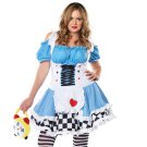Miss Wonderland-Sexy Plus Size Adult Woman Costume
