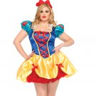 2 PC. Fairy Tale Snow White-Sexy Plus Size Adult Woman Costume