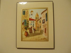 Watercolor Street Scene