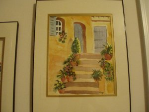 Watercolor Step Scene