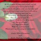 One White Rose Wedding Invitations