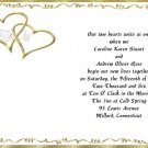 Gold Hearts Wedding Invitations