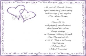 Purple Hearts Wedding Invitations