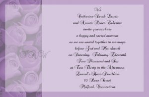 Purple Roses Wedding Invitations