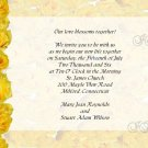 Yellow Roses Wedding Invitations