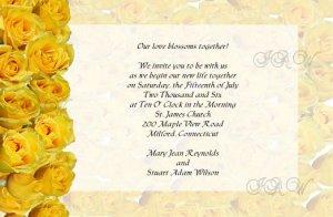 Yellow Roses Wedding Invitations